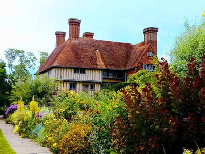 Great Dixter House - tudor mansion - set in colourful garden