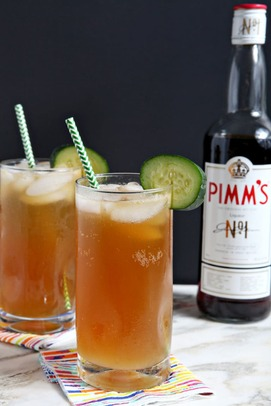 Pimms Cup cocktail, New Orleans, USA