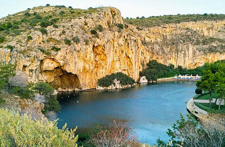 Lake Vouliagmeni, near Athens, Greece