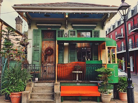 Creole cottage in New Orleans, USA