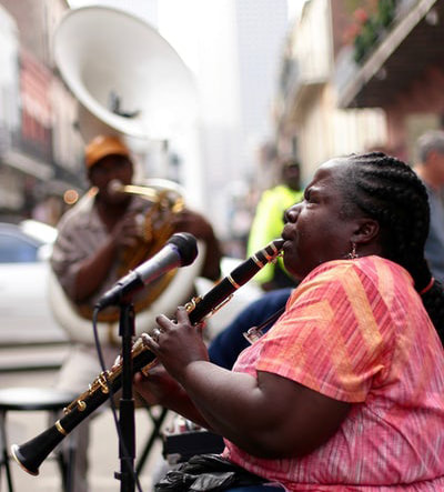 Jazz musicians, New Orleans, USA